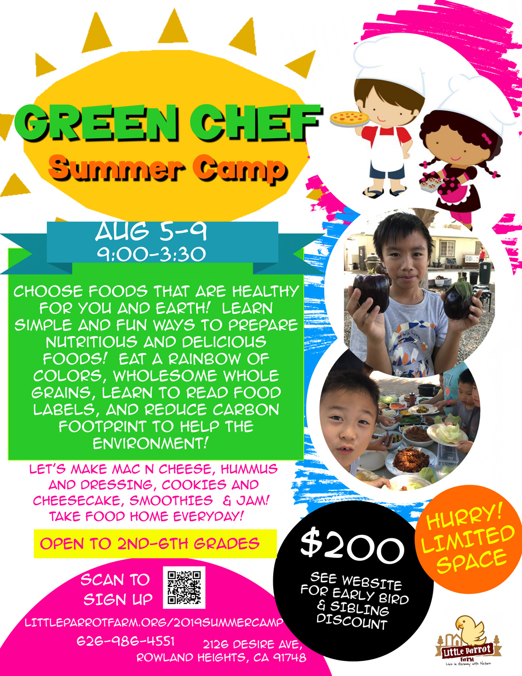 2019 Summer Camp-Green Chef 0805-0809