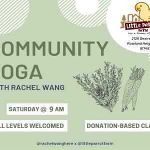 Little Parrot Farm-Yoga Saturday 9am