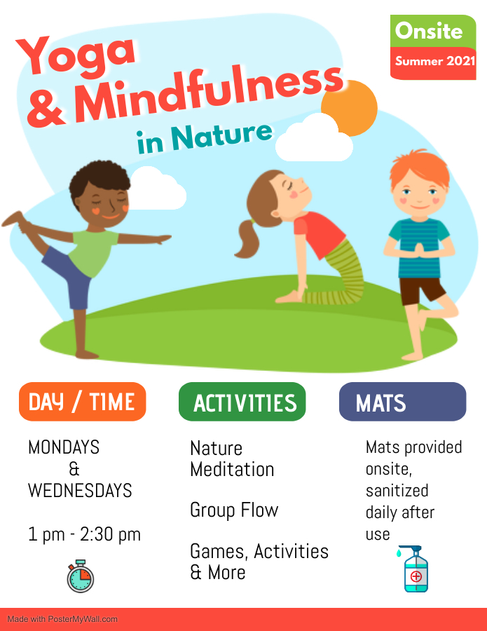 Summer Camp_Yoga & Mindfulness in Nature_Mondays and Wednesdays 1pm